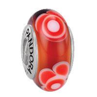 Pandora Zilver Murano glas 79646